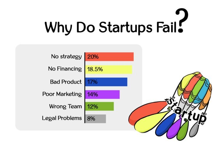why do startups fall